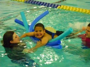 HA student in pool