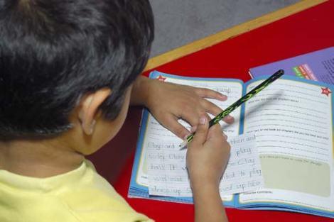 HCSS child writing